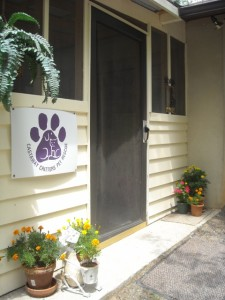 Entrance to the cat house.